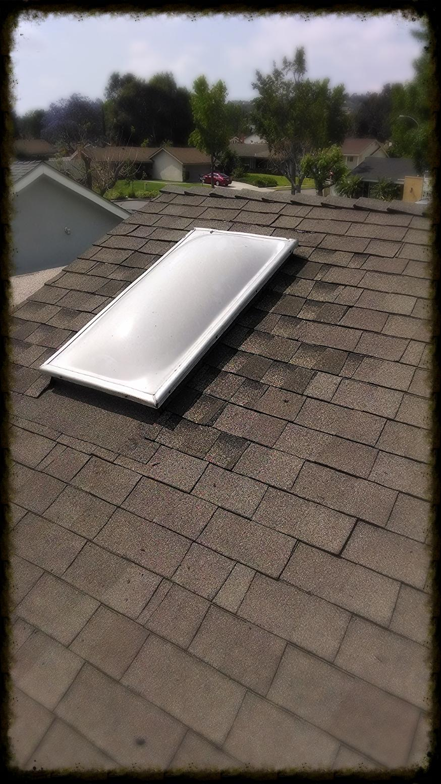 skylight composition shingle repair Sandkamp roofing